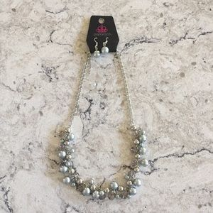 Paparazzi Silver Bauble Earrings and Necklace Set
